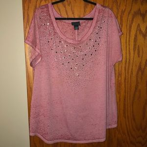 Lane Bryant | Red w/ Stars Tee | 18/20